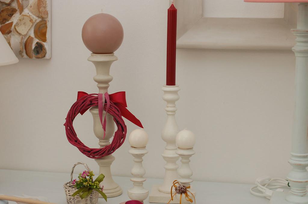 Candelieri in legno fatti a mano, zero tossicità, Torneria Marchigiana Mauro Bigini